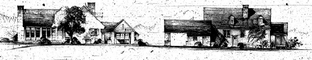 """Two views of a proposed Rocky Knob """"Coffee Shop & Gasoline Station"""" for Rocky Knob, Unknown date"""