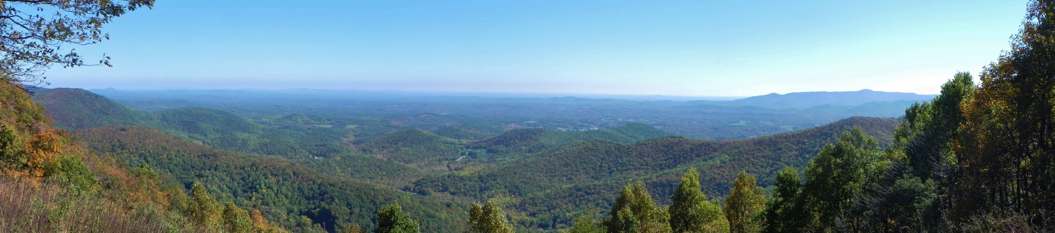 Panoramic View from Saddle Overlook, Rocky Knob, October 17, 2014. Image courtesy of Catherine Cranfill.