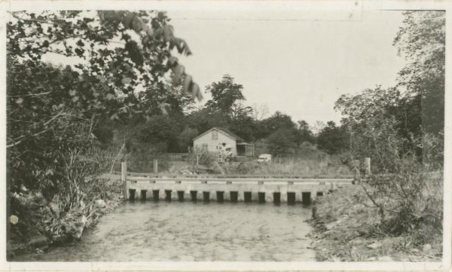 High water ford, Rock Castle Creek at CCC camp site, May 1938