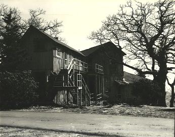 The original Pisgah Inn building before being demolished