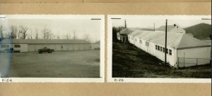 Two views of the Rocky Knob warehouse